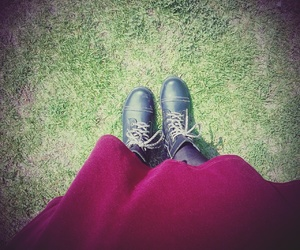 beautiful, boots, and red image