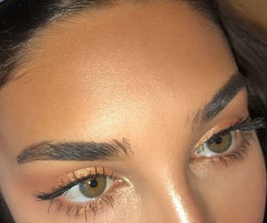 beauty, gold, and makeup image