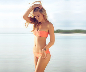 abs, bar refaeli, and summer image