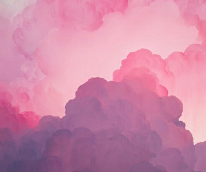 nuvens, pink, and sky image