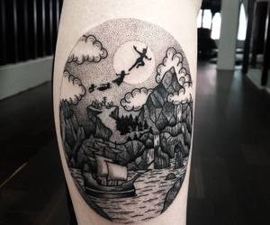 body art, ink, and peter pan image