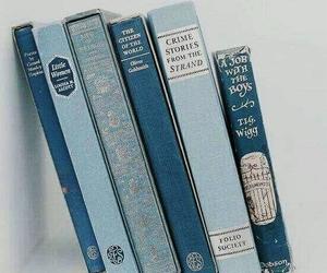 aesthetic, shelf, and blue image