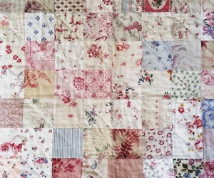 blanket, pink, and quilt image