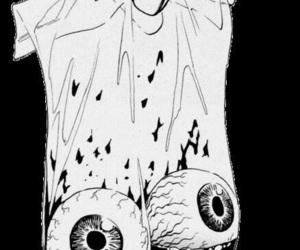 eyes, blood, and manga image