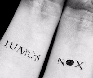 harry potter, tattoo, and nox image