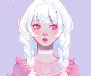 pink, art, and girl image