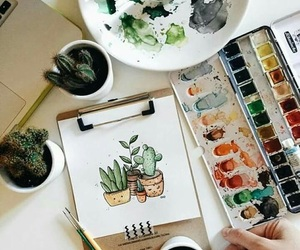 draw, plants, and tumblr image