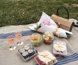 flowers and picnic image