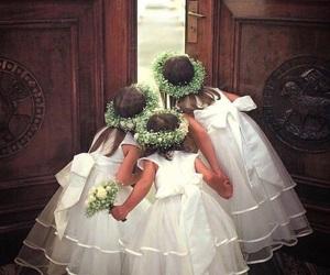 wedding, girl, and flowers image