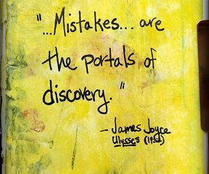 James Joyce, quotes, and mistakes image