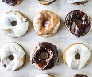 delicious, sweet, and chocolate donuts image