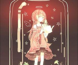 anime, bottle, and girl image