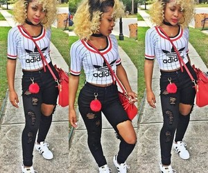 adidas, curly hair, and girls image