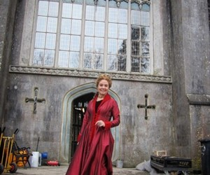 behind the scenes, castle, and dress image