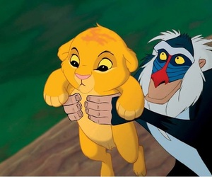 simba, disney, and lion king image
