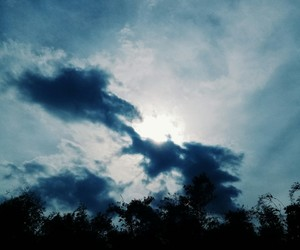 cloud, sky, and dark image
