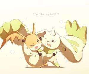 anime, patamon, and kawaii image
