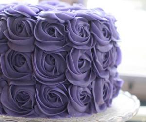 cake, delicious, and rose image