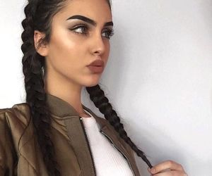 girl, lips, and highlight image