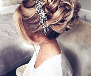 hairstyle, hair, and blonde image