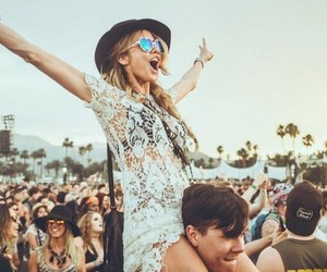coachella, festival, and fun image