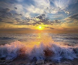 sunset and waves image