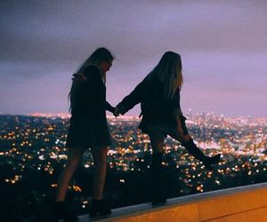 friends, girl, and city image