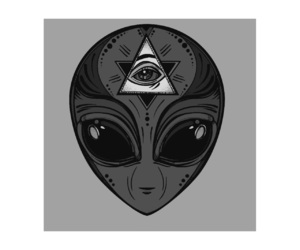 alien, beautiful, and black and white image