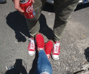 cocacola, converse, and red image