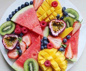blueberry, mango, and strawberry image