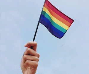 flag, lgbt, and love is love image