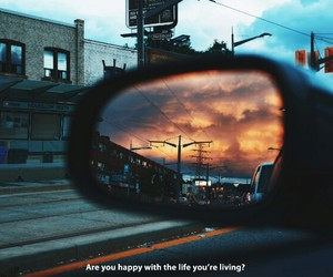 happiness, living, and words image
