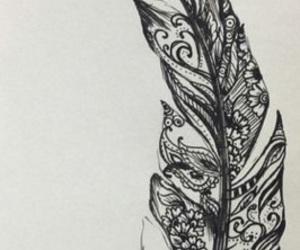 dessin, noir et blanc, and tatouage image