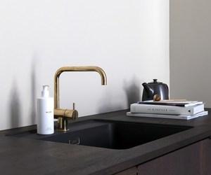 black, copper, and interior image
