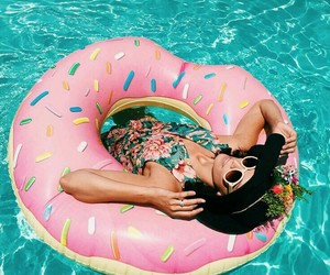donut, float, and yes image