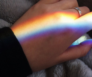 aesthetic, hands, and rainbow image