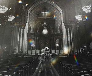 astronaut, stars, and igreja image