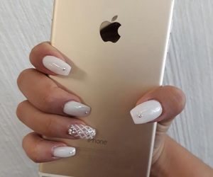 apple, nails, and white image