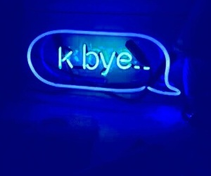 blue, bye, and text image
