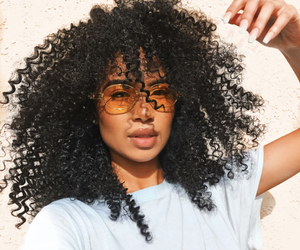 beauty, frappe, and curly hair image