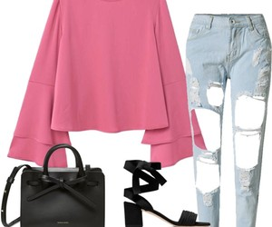 fashion, Polyvore, and jeans image