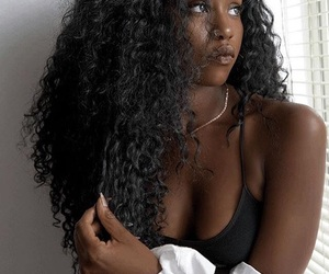 beauty, curls, and goals image