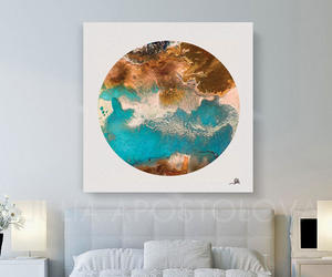 Abstract Painting, watercolor painting, and geometric print image
