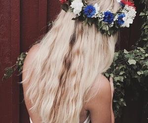 flowers and swedish midsummer image