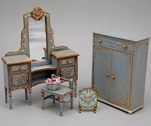 miniature, cute, and a piece of furniture image