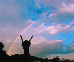 rainbow, sky, and indie image