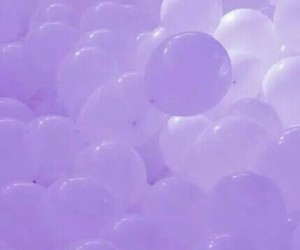 purple, aesthetic, and balloons image