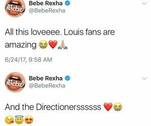 bebe rexha, rexha, and louis tomlinson image