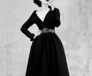dior, black and white, and Marion Cotillard image