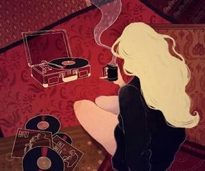music, art, and coffee image